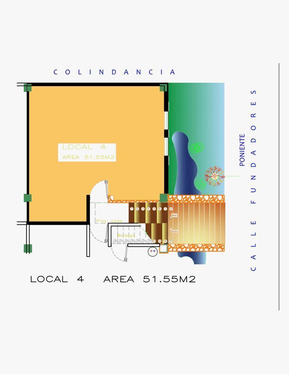 2 de 8: Planta Local 4 Ubicado en Planta Baja
