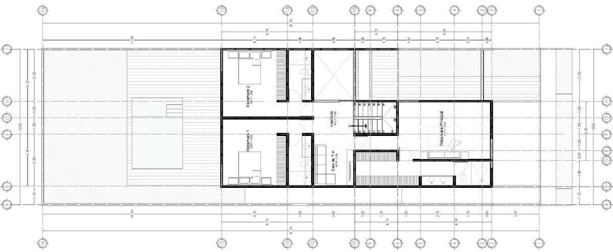 12 de 26: Plano  Arquitectónico Planta Alta
