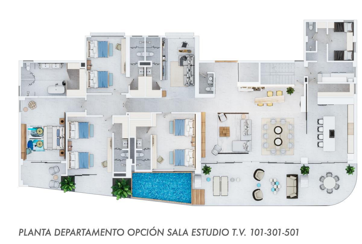 16 de 29: Pisos 101-301-501 con 490 m2