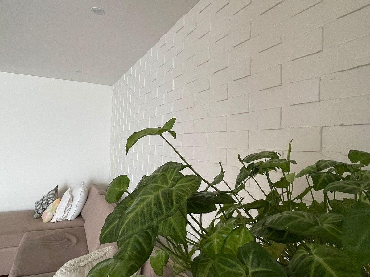 9 de 24: Detalle pared family room.