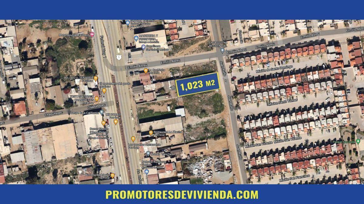 1 de 12: Vista área del terreno en venta. (Dimensiones)