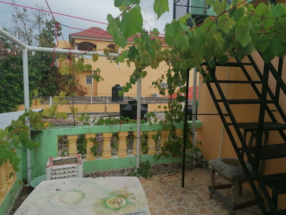 10 de 40: Terraza abierta  del segundo nivel con mata de uva