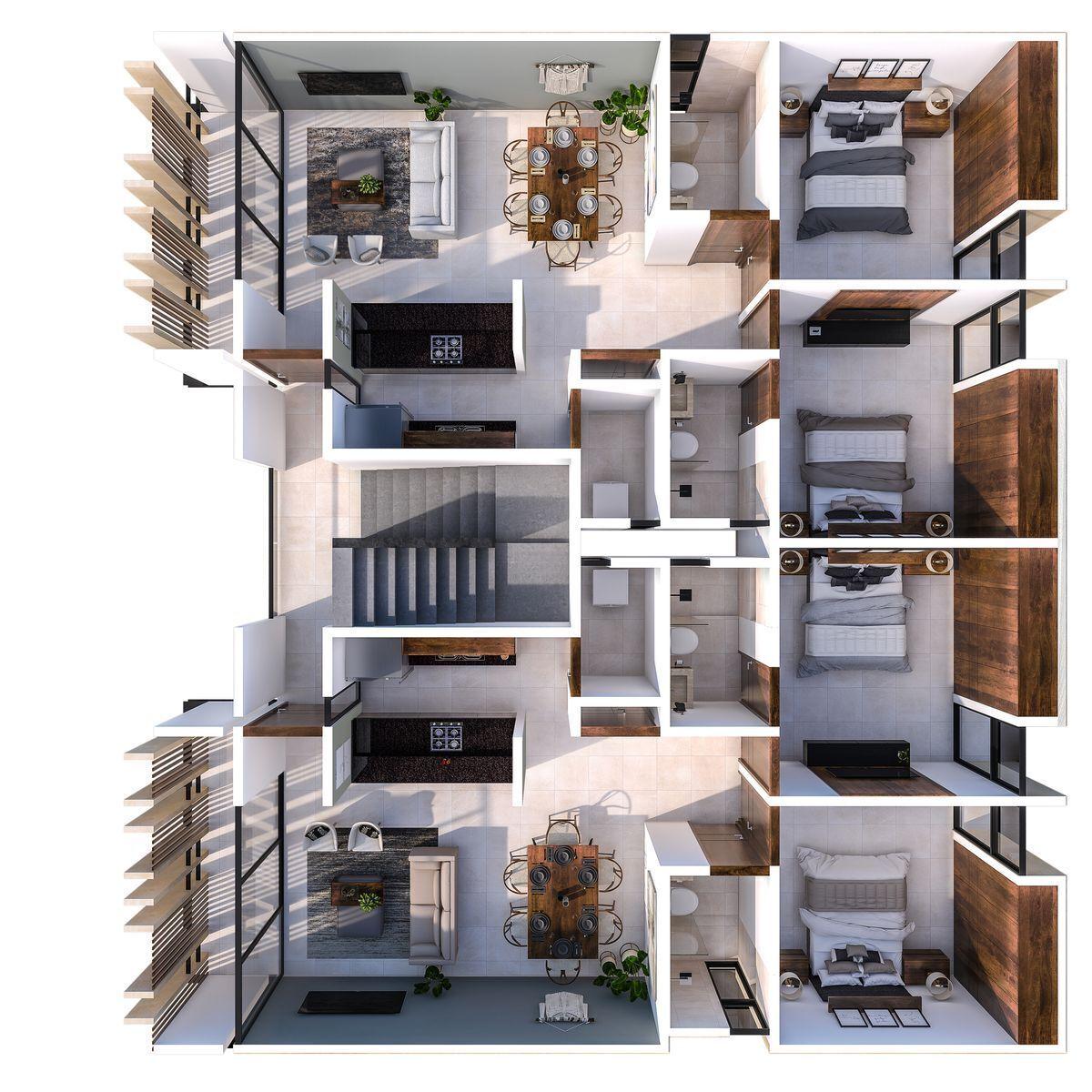 10 de 10: piso 2 y 3. con balcones