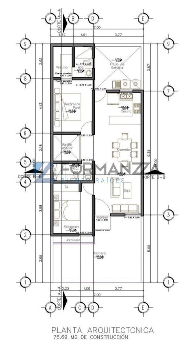 2 de 2: Plano de la casa.