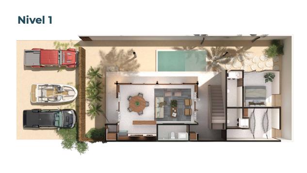4 de 15: Casa en venta en villas Costera Chicxulub Puerto,Mérida Yuca