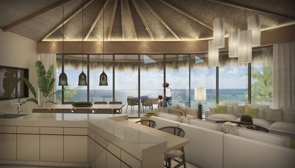 2 de 16: Playa-Inmuebles-Real-Estate-sala-Cocina-Naomi-Beach