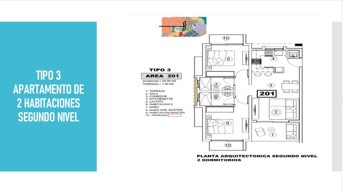 8 de 12: Tipo 3 apartamento de 2 habitaciones segundo nivel