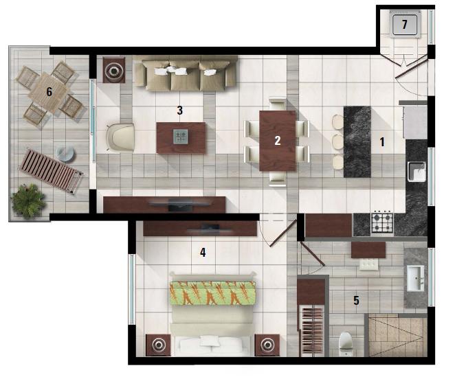 37 de 50: Plano departamento E