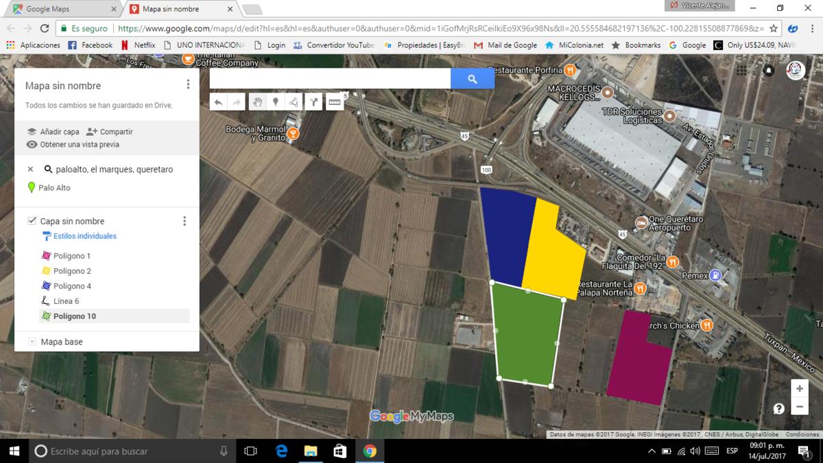 1 de 6: Localización de terrenos.