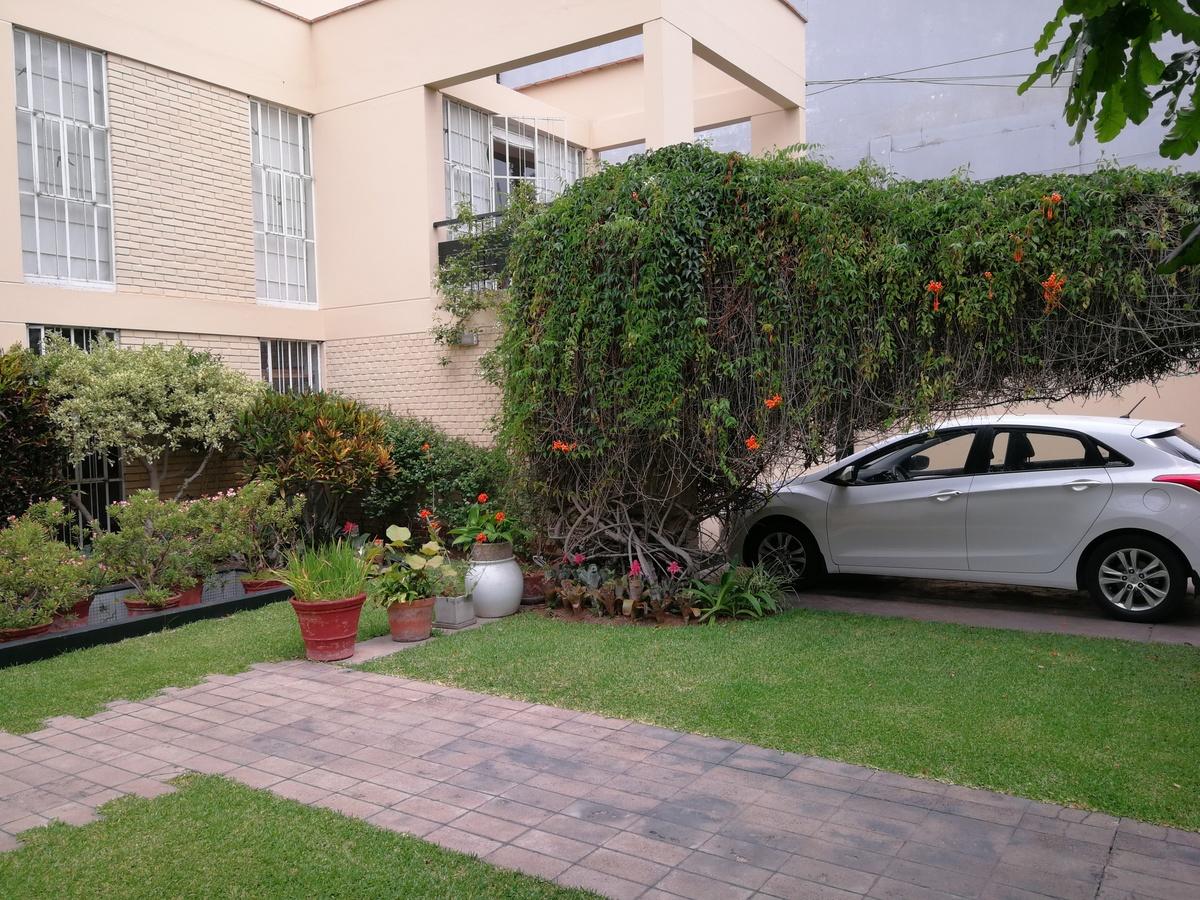 12 de 19: Hermoso jardín con gran árbol. lindo Paisajismo.