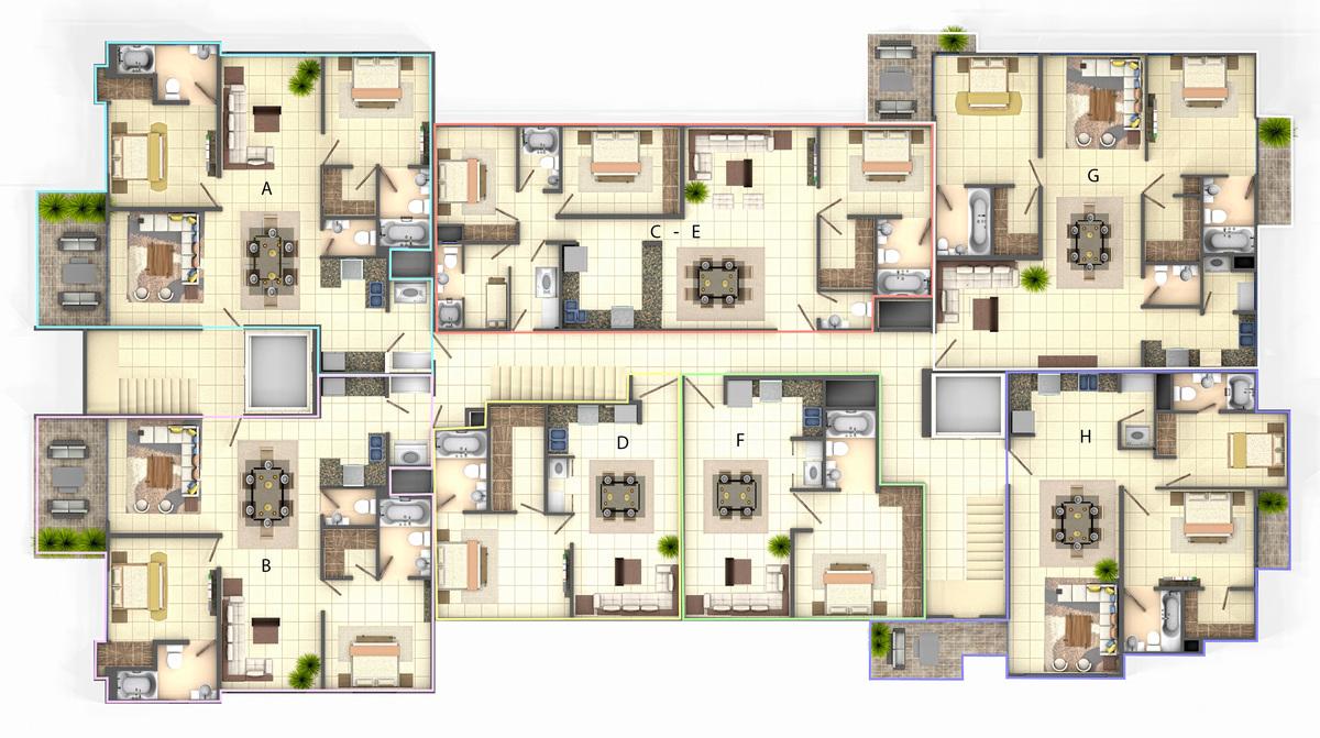 5 de 7: Venta Apartamento 2da con Terraza y Piscina en Bella Vista
