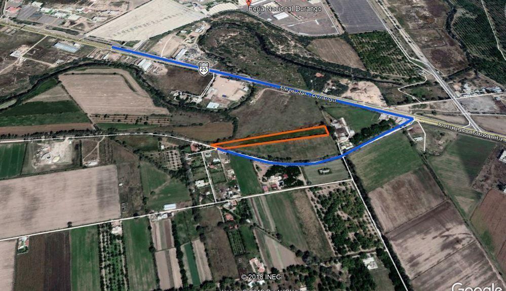 2 de 8: Localización Satelital con ruta de acceso marcada en azul