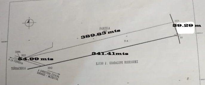 8 de 8: Medidas de terreno El acceso es por medida de 54 mts